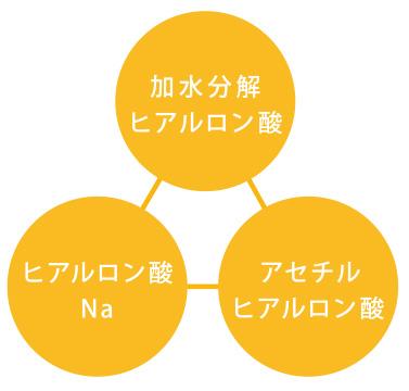 3種のヒアルロン酸イメージ